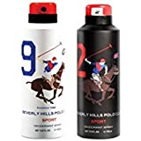 AmazedDeal Beverly Hills Polo Club One No.9 & One No.2 Deodorant For Men(Pack Of 2)Combo Pack