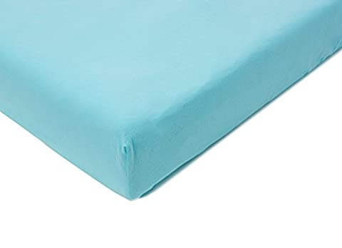 Little Helper Baby Boum 100 Percent Soft Cotton Jersey Single Bed Sheet (70 x 140 cm, Turquoise)