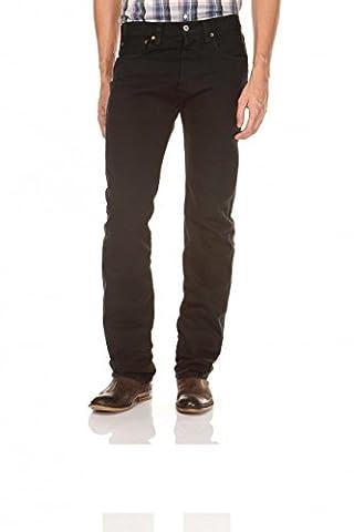 Levi's® 501® Jeans - Regular Straight Fit - Stonewash - Onewash - Marlon Wash - Black - Light Broken In, Größe:W 31 L 34;Wash:black