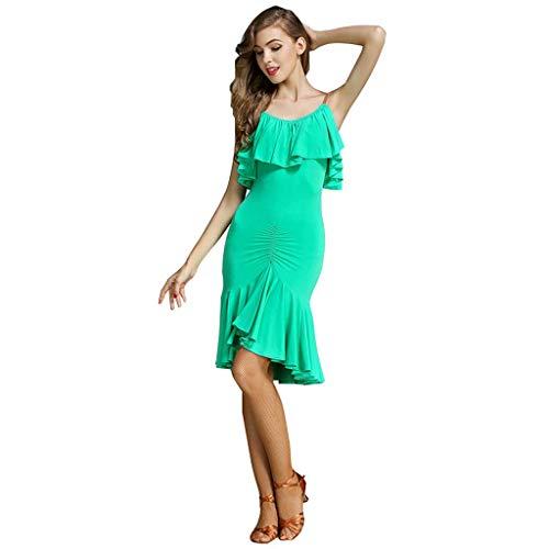 Kostüm Adult Latin Dance Dress, Hosenrock (Farbe : Grün, größe : XXL)