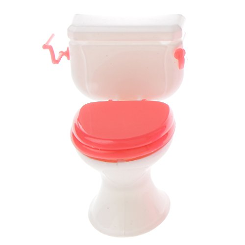 MagiDeal Mini Lavabo WC Camera Accessori In Plastica Bambole Da Bagno Per Le Bambole Barbie