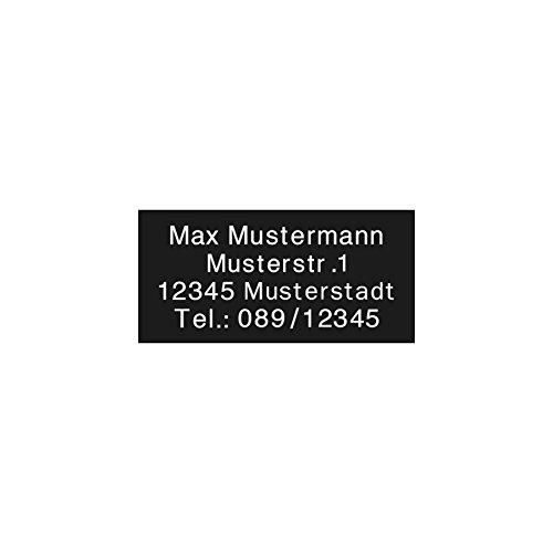 Preisvergleich Produktbild kultdog Drohnen Kennzeichnung Plakette Adressgravur Kennzeichen Schild Feuerfest Selbstklebend Schwarz Nano 12x6mm
