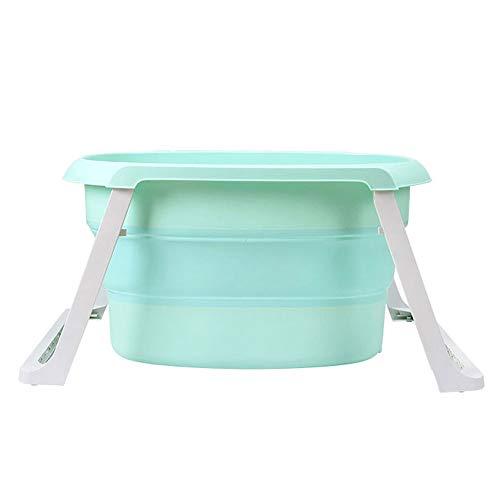 Erwachsene faltbare Badewanne Kunststoff Baby Pool Kinder Badezimmer Eimer Familie große tragbare Badewanne (Color : Green) (Schiebetür Pool Sicherheit)