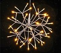 LED Hängeleuchte mit 64 warmweissen LEDs