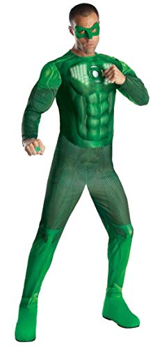 Rubie's Costume Co Men's Green Lantern Adult Deluxe Hal Jordan Costume With Light Up Muscle Chest
