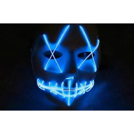 Maske mit blauem LED-Licht ähnelt der Purga Halloween Karneval ()