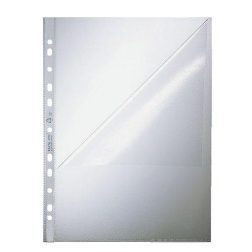Leitz 47970000 Prospekthülle Standard, A4, PP, genarbt, dokumentenecht, farblos, 100er Packung
