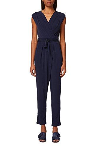ESPRIT Collection Damen Jumpsuit 997EO1L800, Blau (Navy 400), X-Large (Herstellergröße: XL)