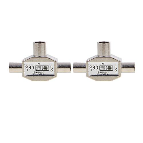 H HILABEE 2 Stücke Signal Splitter Combiner 0 1000 MHz 2 Way Digital TV Coax Antenne -