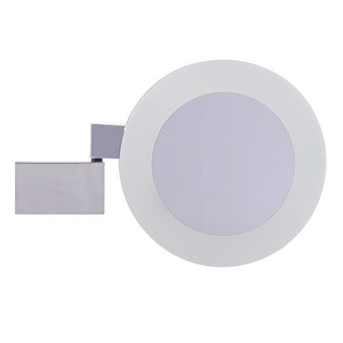 Esbada Design Kosmetikspiegel/Schminkspiegel / Vergrößerungsspiegel, LED - Chrom - Durchmesser:...