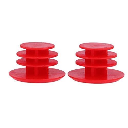 WOOAI 1 Paar MTB Rennrad Lenker Caps Fahrradlenker Stecker aus Kunststoff PVC-Firm-Handgriff-Stab-Enden Stoppers MTB Bike Zubehör, Red