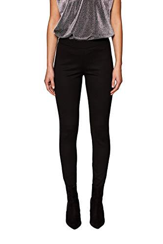 edc by ESPRIT Damen 118CC1B024 Leggings, Schwarz (Black 001), W36(Herstellergröße: S)