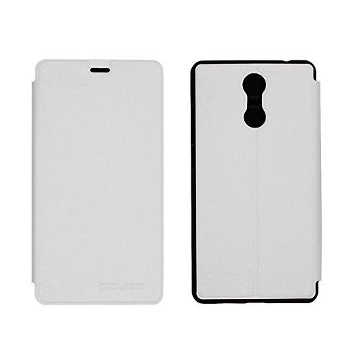 Guran® PU Leder Tasche Etui für Bluboo Maya Max Smartphone Flip Cover Stand Hülle Case-weiß