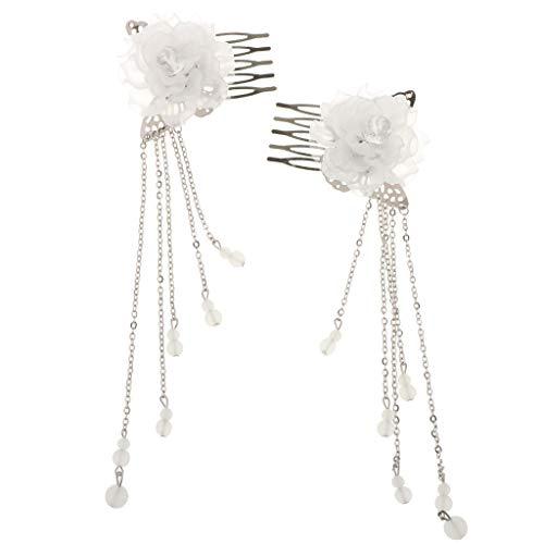 Baoblaze 2 Stücke Retro Kostüm Alten Chinesischen Haarschmuck Haar Kamm Clips Haar Pin - - Alten Chinesischen Kostüm