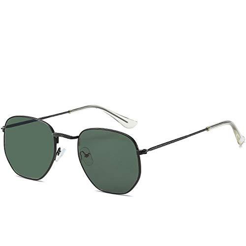 Yangjing-hl Kleine quadratische Sonnenbrille Wild Street Shoot Bunte Sonnenbrille Männer und Frauen Retro-Sonnenbrille Flut schwarzen Rahmen dunkelgrün