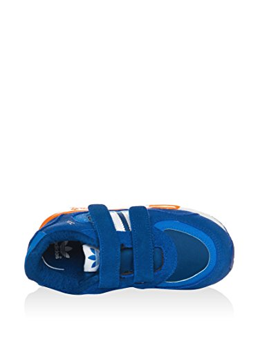 adidas M19744, Running Garçon Bleu / Orange / Blanc