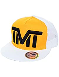 TMT Cappello Retina Trucker Visiera Piatta Giallo Cappellino Rapper  Baseball Snapback 32b5d5546d38
