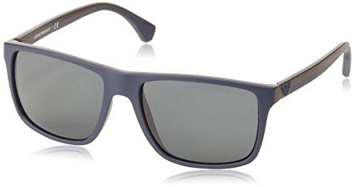Mod Modeschmuck (Armani Unisex  Sonnenbrille EA4033, , , , , Gr. Large (Herstellergröße: 56), Mehrfarbig (Top blue/brown rubber)