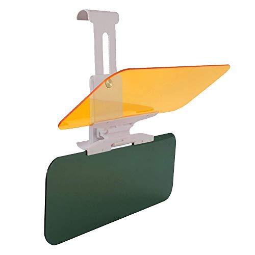 Auto Sonnenschutz Visier, 2-in-1 Clip-on Auto Sonnenblende, Verlängerung Blendschutz UV fahren HD Visier, Tag und Nacht Vision Eye Displayschutzfolie für Windschutzscheibe Extender