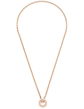 Leonardo Jewels Damen-Erbskette Darlin's Piccola roségiold Edelstahl Glas 42 cm - 015904