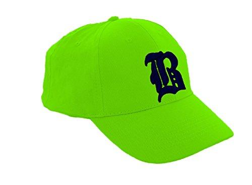 Unisex Jungen Mädchen Mütze Baseball Cap Hut Kinder Kappe 3D Gothic B Morefaz TM (B Neon Green black)