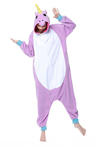 DAN SPEED - Anime Costume Cosplay Combinaison Grenouillères Vêtements de nuit (S(148-160cm), violet licorne) (One Cosplay-accessoires Piece)