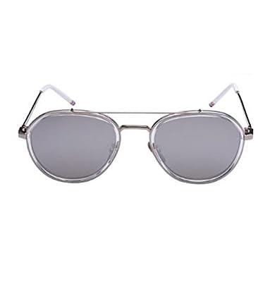 MYLL Mode Damen Sonnenbrille Stern Mit Dem Absatz Metall Retro Leuchtende Farbe Reflektierende Gläser Sonnenbrille