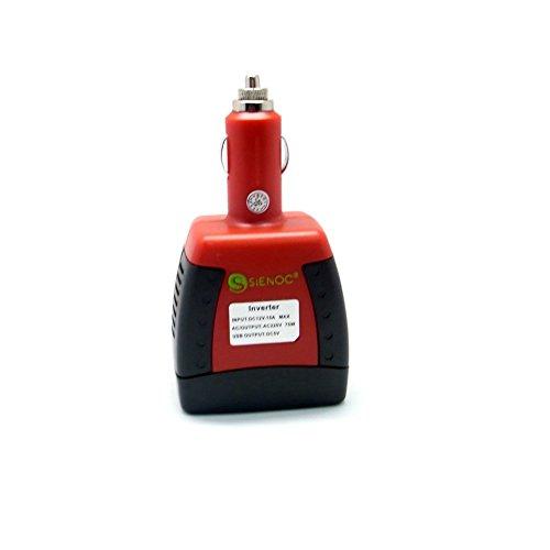 75W Auto Zigarettenanzünder Spannungswandler DC 12V auf AC 220V Power Inverter Wechselrichter 5V USB Auto PKW KFZ