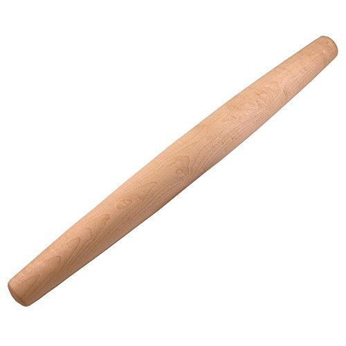 Sugar Maple French Rolling Pin: Tapered Solid Wood Design. Hand Crafted in the USA. by Top Notch Kitchenware French Rolling Pin