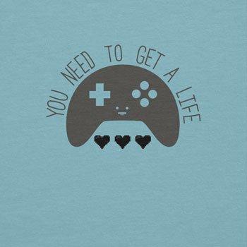 NERDO - Get A Life - Damen T-Shirt Hellblau