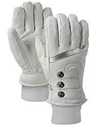 Guantes Burton Favorite Leather Glove Women, HW10, color blanco - Blanco brillante, tamaño XL