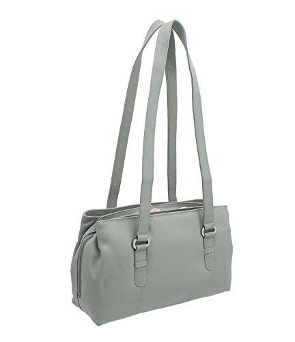 Mala Leather Schultertaschen, grau (Grau) - 734_30 grau