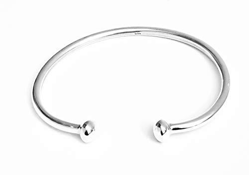 TreasureBay Damen-Armreif Sterling-Silber 925 massiv (Armreif 925)