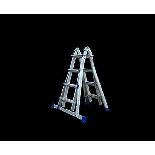 Leiter 4 x 4 Teleskopleiter multifunktionale Stufenleiter All-in-One-Leiter