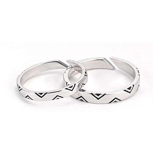 Muster Einfach Indischen Kostüm - XAFXAL Pärchen Ringe 925 Sterling Silver Vintage,Einstellbare Retro Paar Ring Student Indische Muster Paar Ring Für Den Valentinstag Verlobung Geburtstag Geschenk Paar Ring