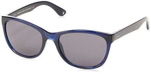 641 Salcombe Rechteckig Sonnenbrille, Navy Blue/Grey Lens ()