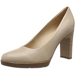 Geox D Annya High a, Zapatos de Tacón para Mujer, (Beige C5000), 39 EU