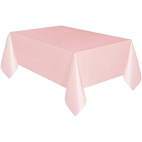 Mantel rosa plástico rectangular