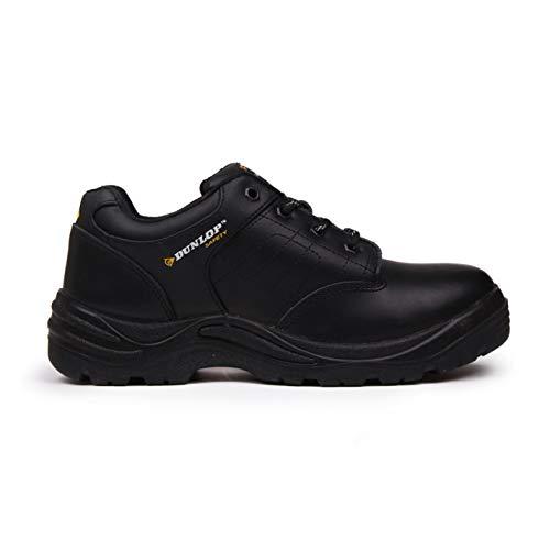 Dunlop Herren Kansas Safety Sicherheitsschuhe Arbeitsschuhe Leder Schutzschuhe Schwarz 9.5 (44) Resistant Steel Toe Schuhe