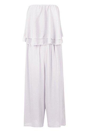 blanc Femmes aleta jupe-culotte tissée et bandeau à volants Blanc