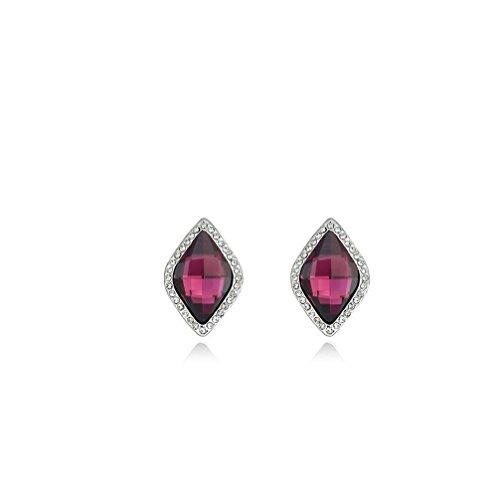 Erica Gold überzogene funkelnde österreichische Kristallbolzen-Ohrringe für Frauen-Mädchen #1