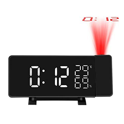 GuDoQi Radio Despertador Proyector Digital FM Radio Reloj Proyector Reloj Despertador...