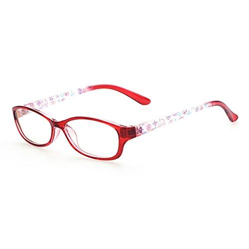 Mädchen Geek Kostüm (Mädchen Junge Brillen - Clear Lens Glasses Frame Geek / Nerd Brillen mit Car Shape Gläser Fall -)