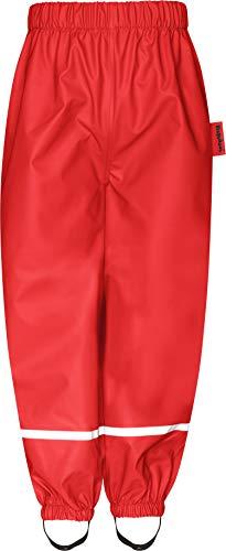 Playshoes Unisex-Baby Fleece-Halbhose 408626 Regenhose, Rot (Rot 8), (Herstellergröße: 116)