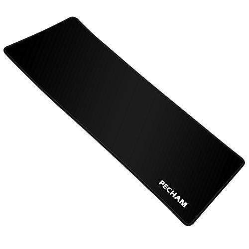 PECHAM 77 X 29 X 0.3 cm impermeable juego de Alfombrilla de ratón (Negro)