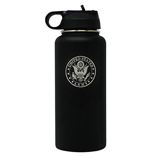 Militär-Geschenk-Shop, doppelwandig, vakuumisoliert, Edelstahl, Armee-Wasserflasche -