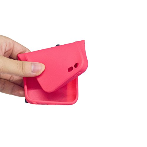 iPhone SE 5S 5C 5G Custodia, case Paraurti dassorbimento con TPU Back-Anti-Scratch Cover ( 3D Cartoon Ananas + giallo ) iPhone SE 5S 5C 5G Copertura Shell Rosa 3