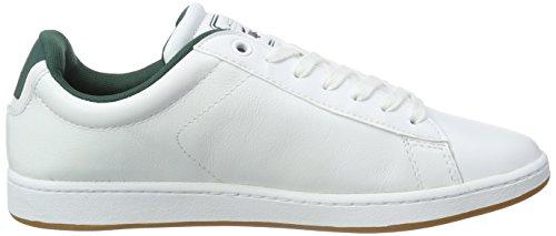 Lacoste CARNABY EVO REI Herren Sneakers Weiß (WHT/WHT 21G)