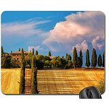 beautiful farm on a hill in tuscany Mouse Pad, Mousepad (Farms Mouse Pad)