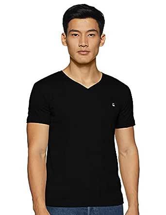 United Colors of Benetton Men's Solid Regular fit T-Shirt (19A3C78J2222I_100_KL_Black XXXL